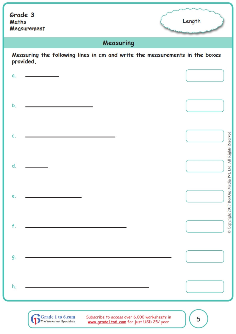 Measurement Worksheets Grade 3 Grade 3 Class 3 Measurement Worksheets