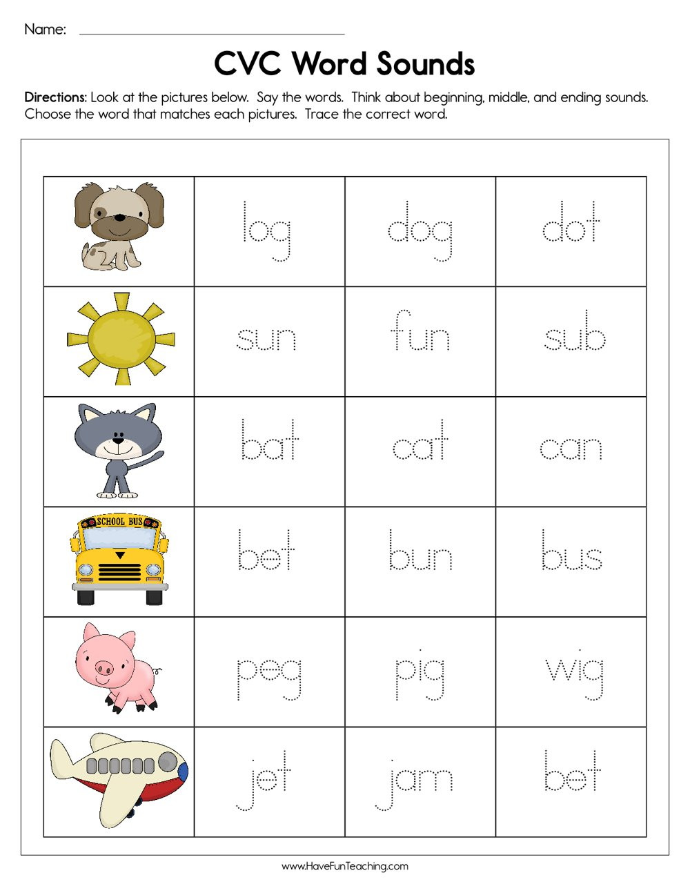 Medial sounds Worksheets First Grade Beginning Phonics Worksheets – Eupcolorco On Worksheets