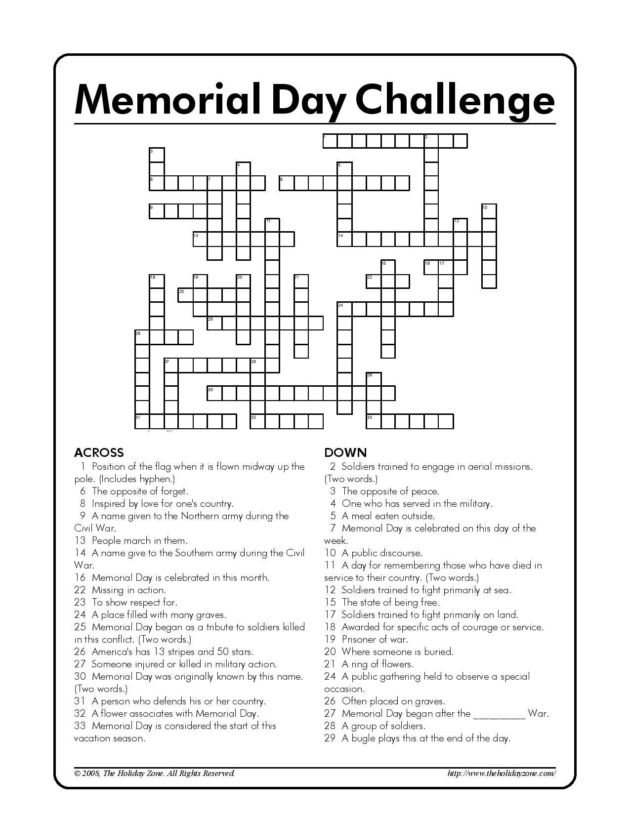 Memorial Day Worksheets Free Printable Memorial Day Question Worksheet
