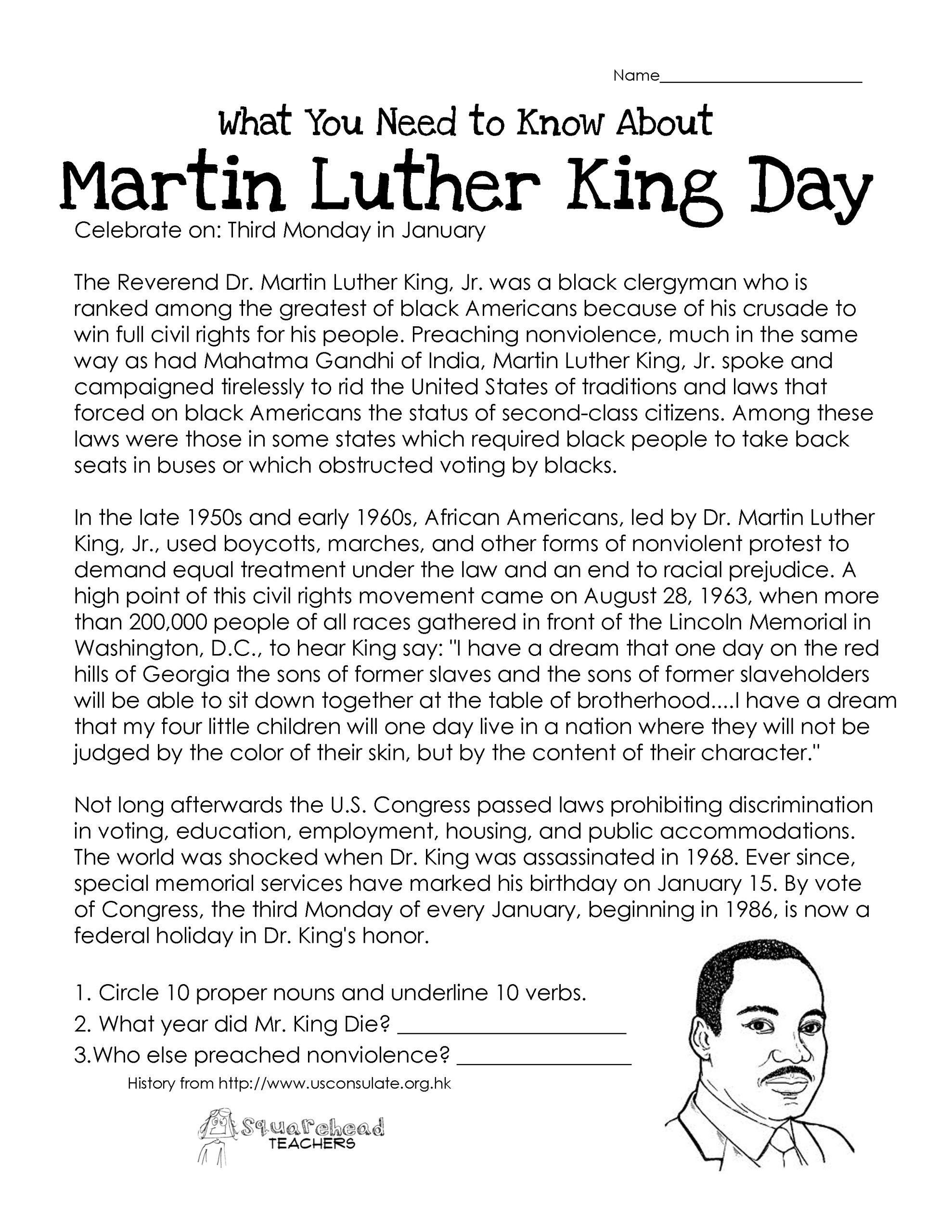 Memorial Day Worksheets Free Printable Tremendous Free Printable Martin Luther King Coloring Pages