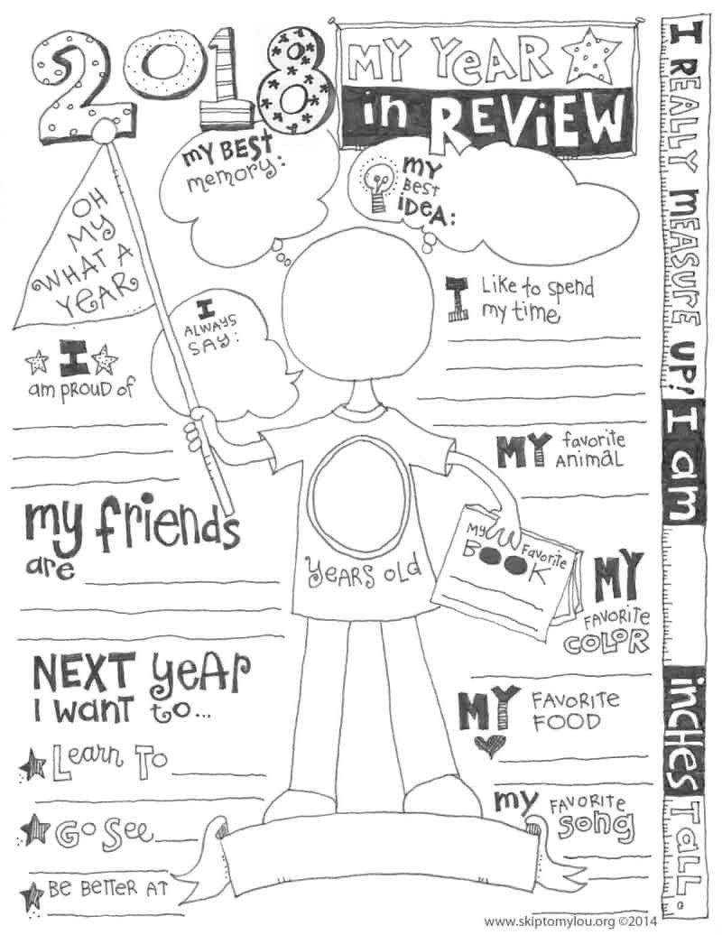 Memory Exercises for Adults Printable 2019 Year In Review Coloring Page Updated