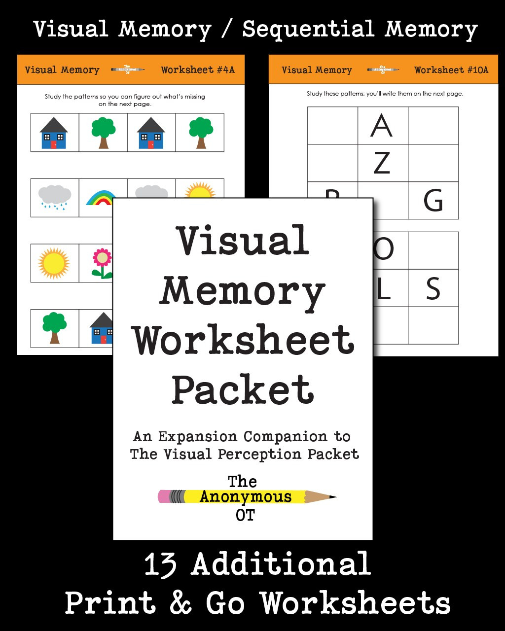 Memory Exercises for Adults Printable Visual Memory Worksheet Packet
