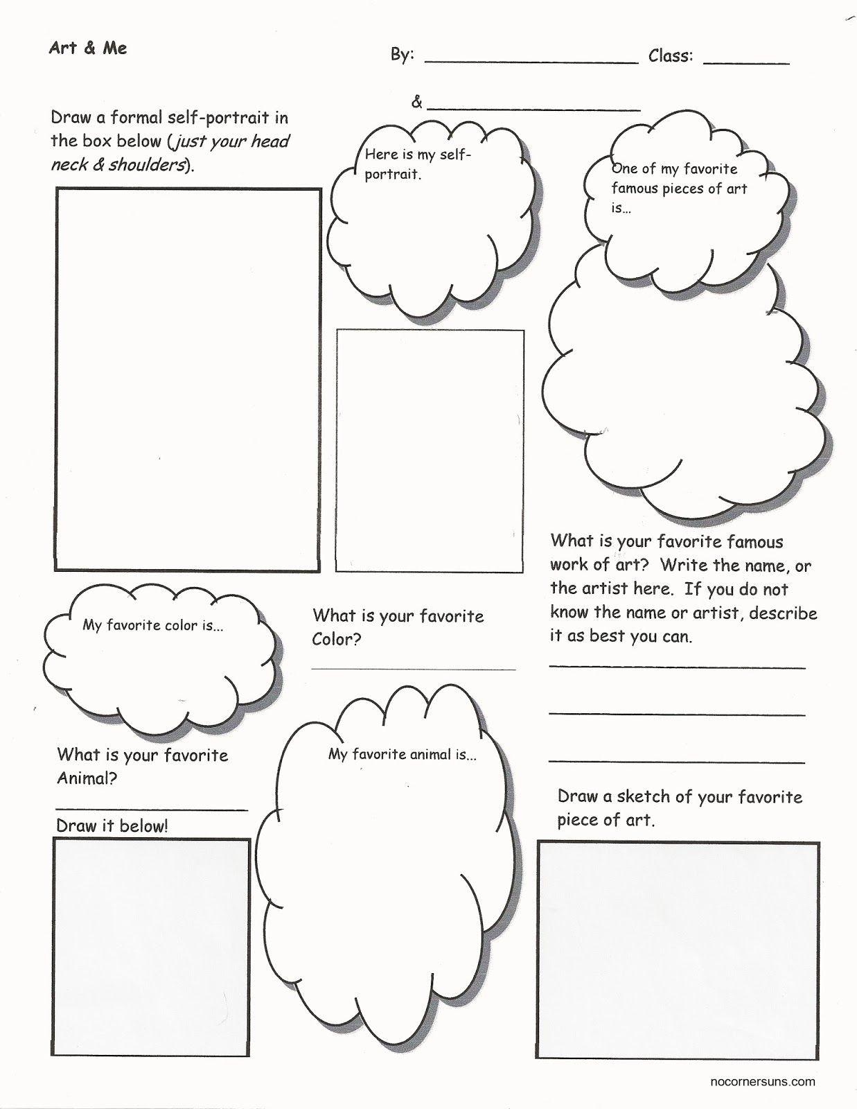 Middle School Art Worksheets Art & Me I Ting to Know You Worksheet that Helps