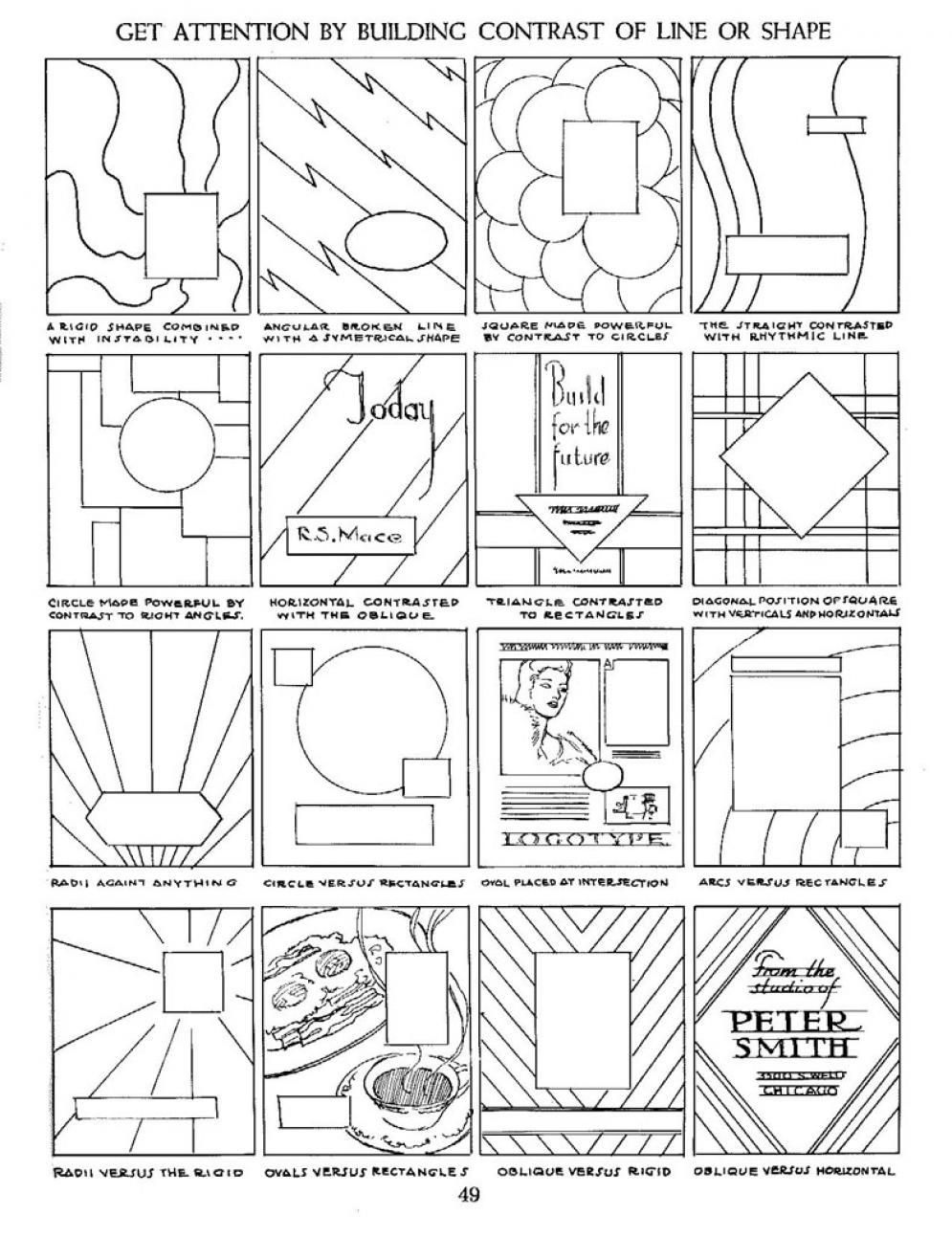 Middle School Art Worksheets Contrasting Lines and Shapes In Position …