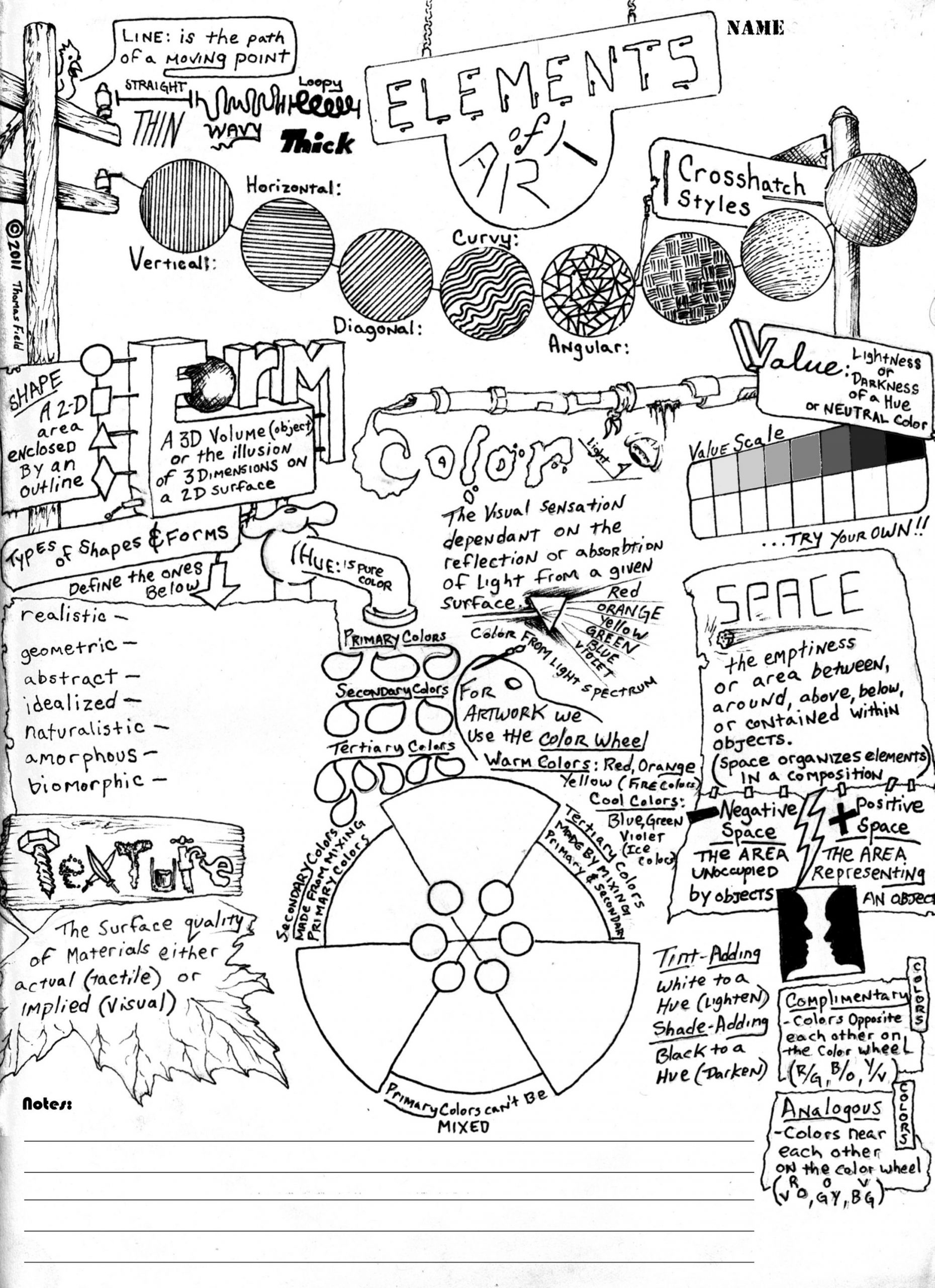 Middle School Art Worksheets Elements Of Art Worksheet Elements Of Art