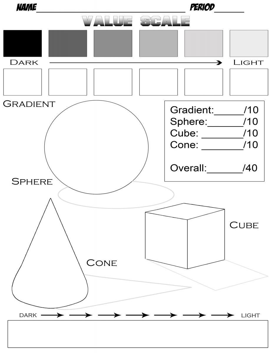 Middle School Art Worksheets Students First Pleted the Worksheet Below they Used A