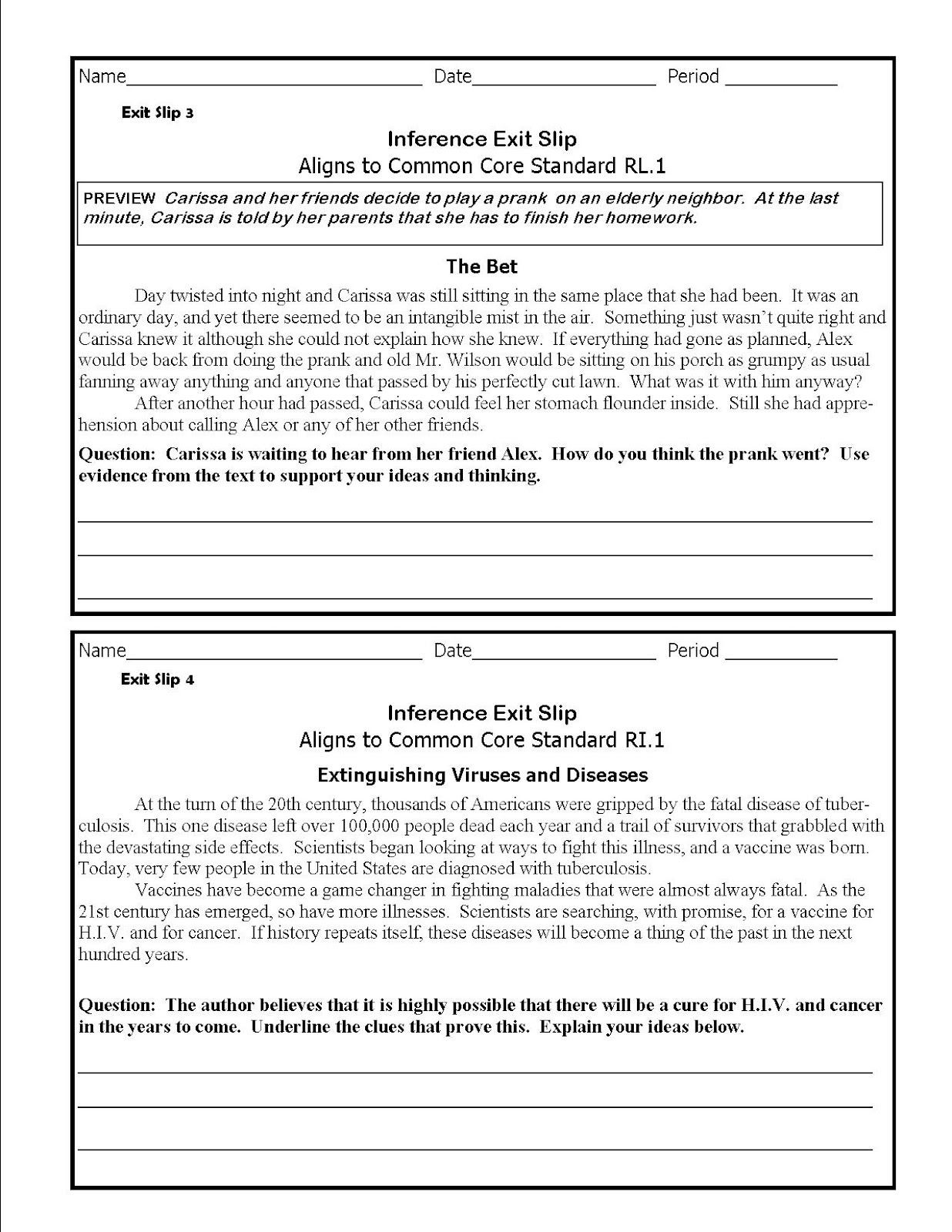 Middle School Inference Worksheets New Inferences Worksheet High School