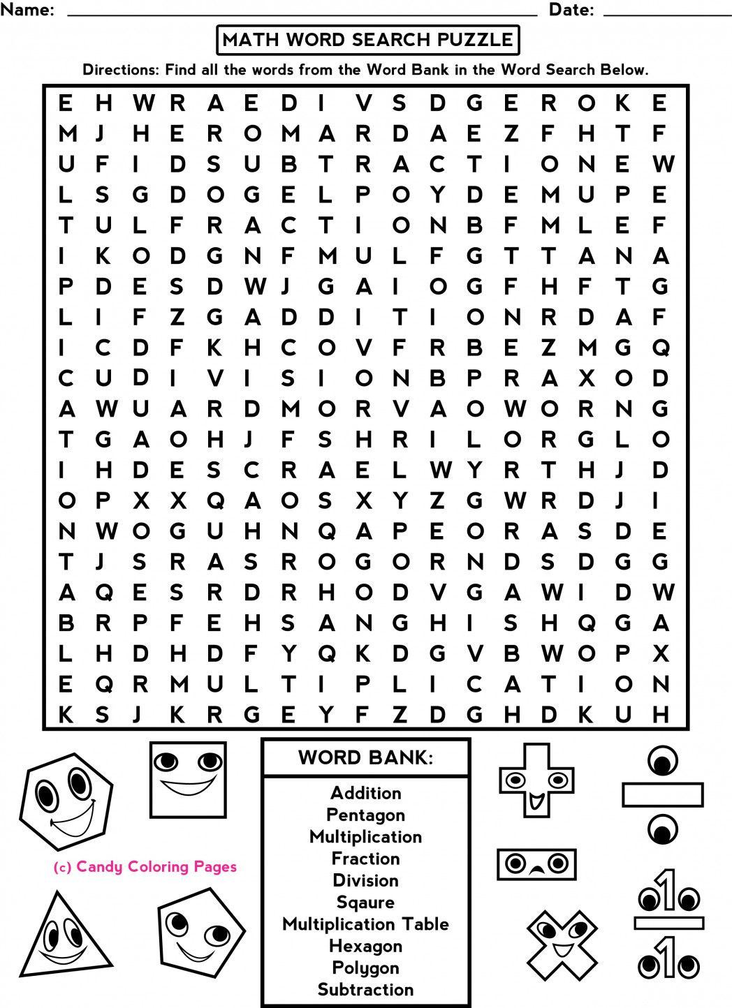 Middle School Math Puzzles Printable 2 Middle School Math Worksheets In 2020