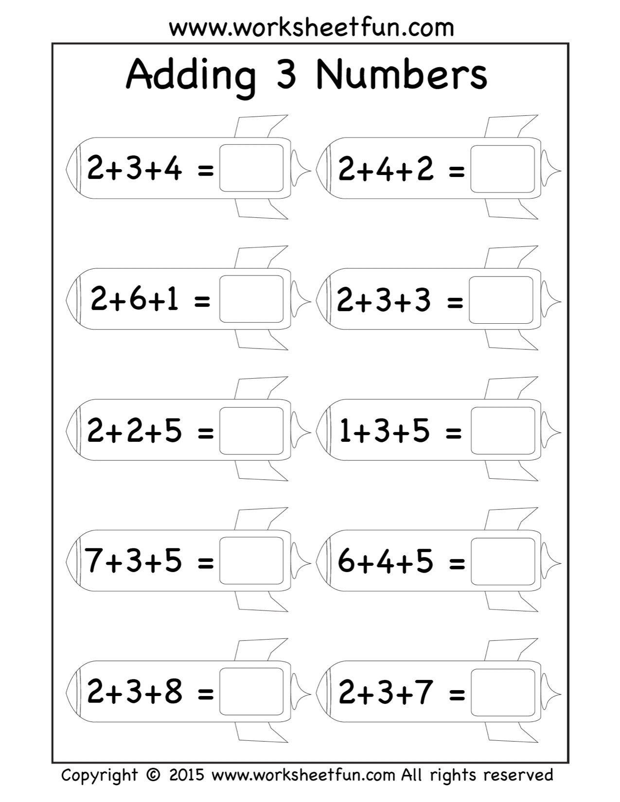 Missing Addend Worksheets 1st Grade 5 Free Math Worksheets First Grade 1 Addition Add 2 Digit 1