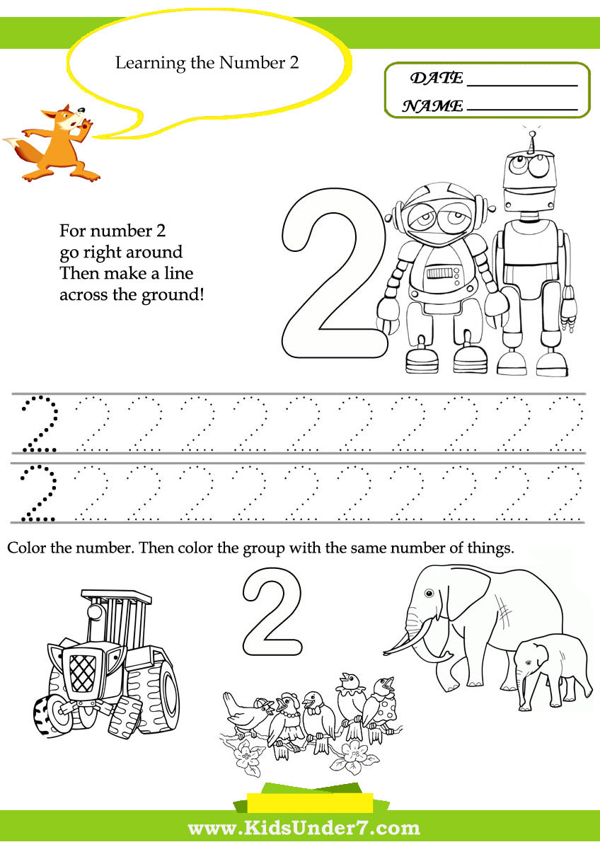 Number 2 Worksheets for Preschool 7 Best Of Printable Number Worksheets Printable
