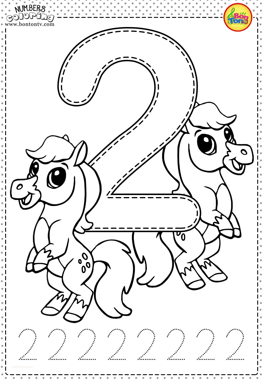 Number 2 Worksheets for Preschool Coloring Pages Printable Coloring Book for toddlers Fresh