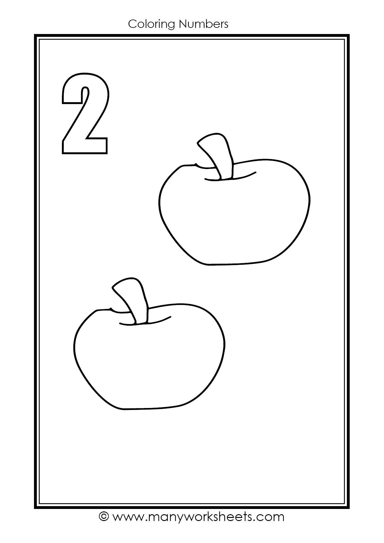 Number 2 Worksheets for Preschool Number 2 Coloring Worksheet