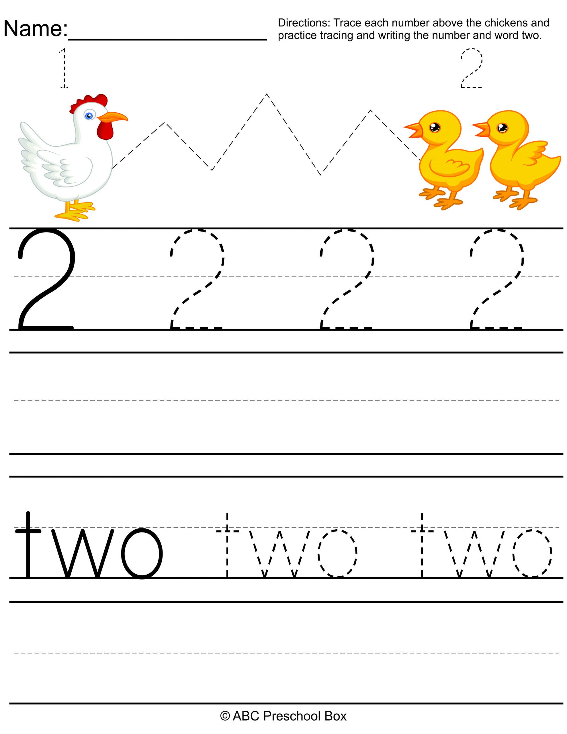 Number 2 Worksheets for Preschool Number 2 Preschool Worksheet From Abcpreschoolbox