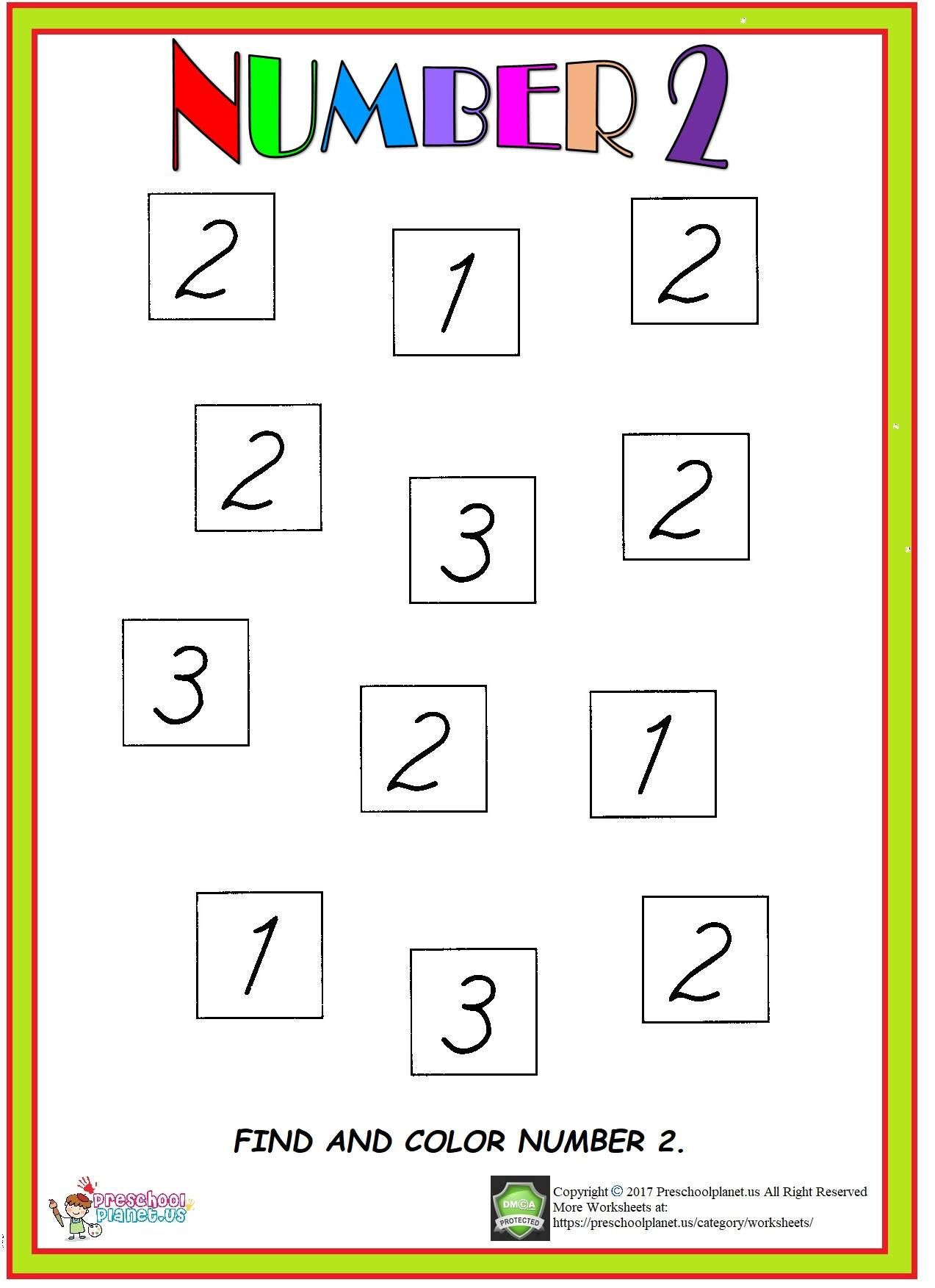 Number 2 Worksheets for Preschool Number 2 Worksheet Here is Number 2 Worksheet for Preschool