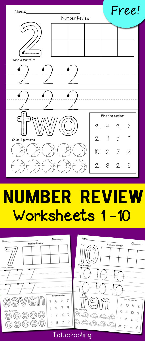 Number 2 Worksheets for Preschool Number Review Worksheets