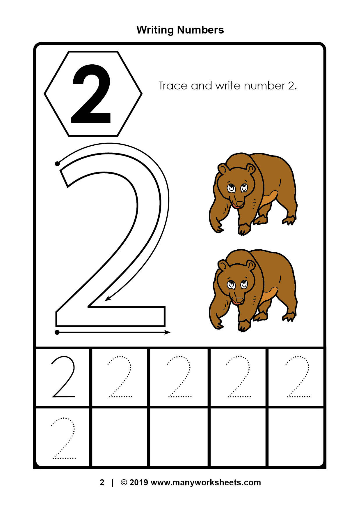 Number 2 Worksheets for Preschool Tracing Number Worksheets for Kindergarten Preschool Ratio
