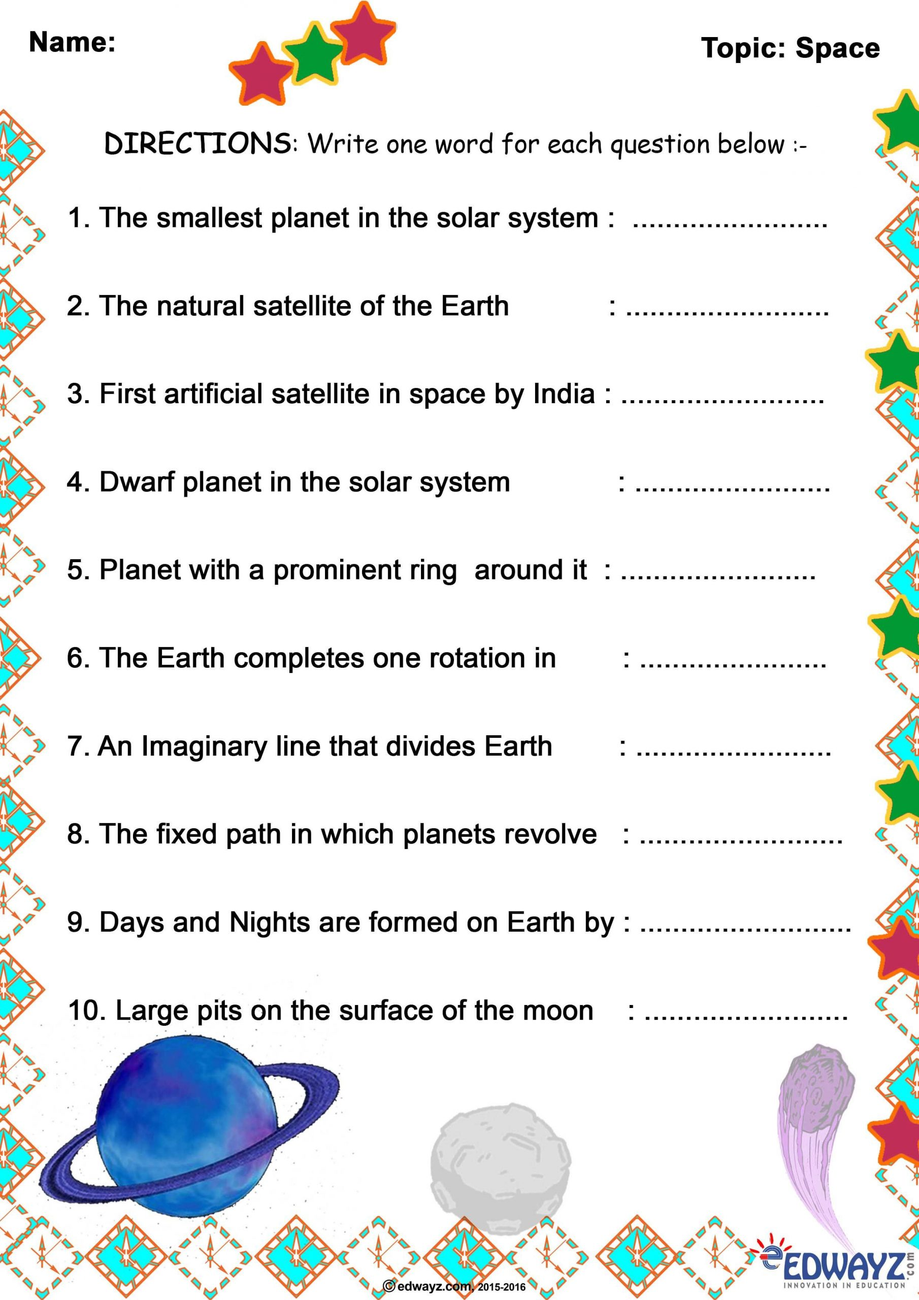 Ocean Floor Worksheets 5th Grade 5th Grade Science Worksheets Planets