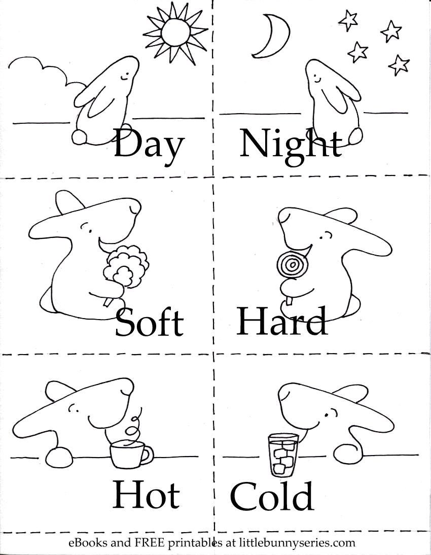 Opposites Preschool Worksheets On the Above Image for A Pdf Of the Opposites 3 In 1