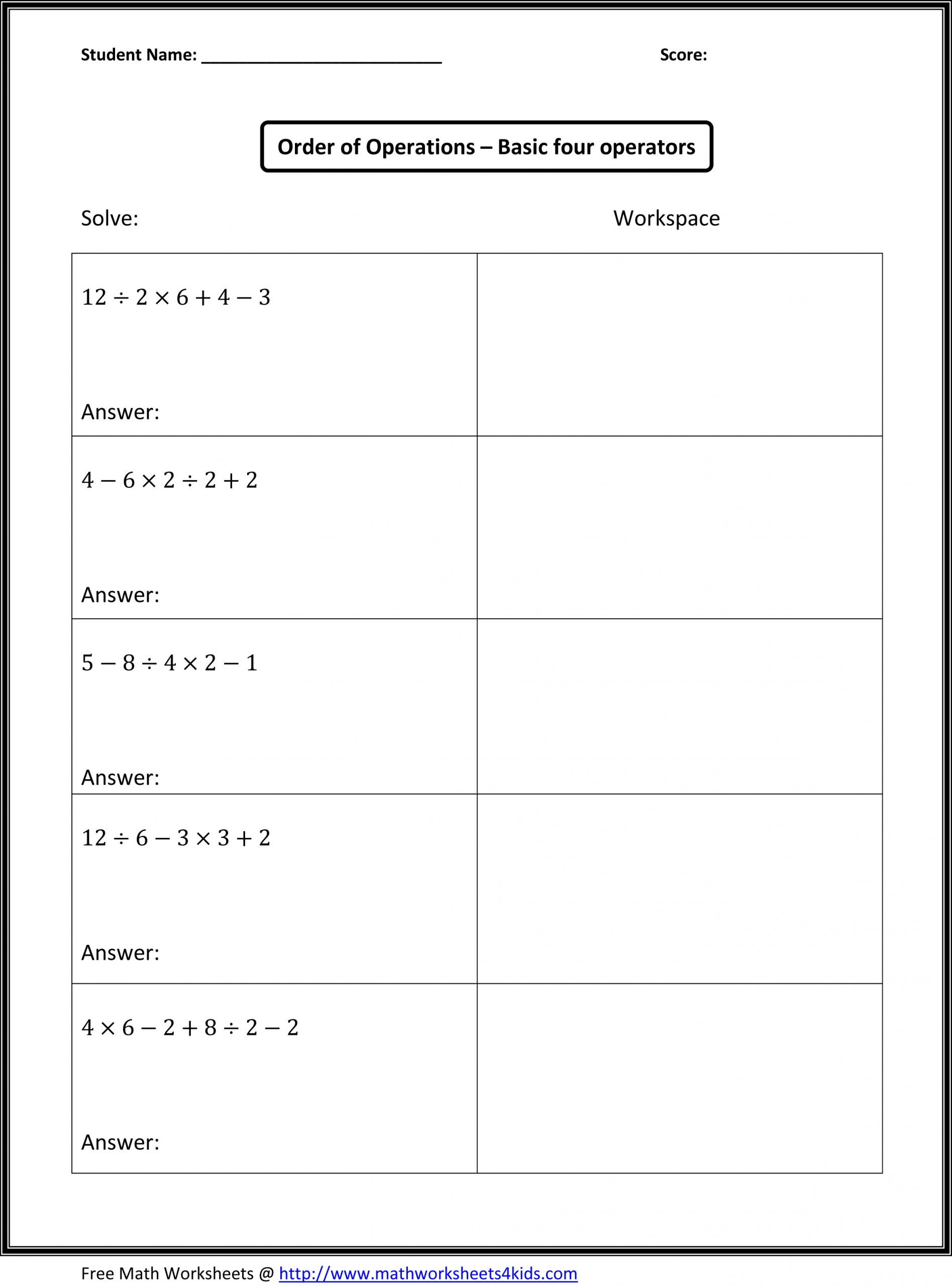 Ordering Decimals Worksheet 5th Grade order Operations 5th Grade Lessons Tes Teach