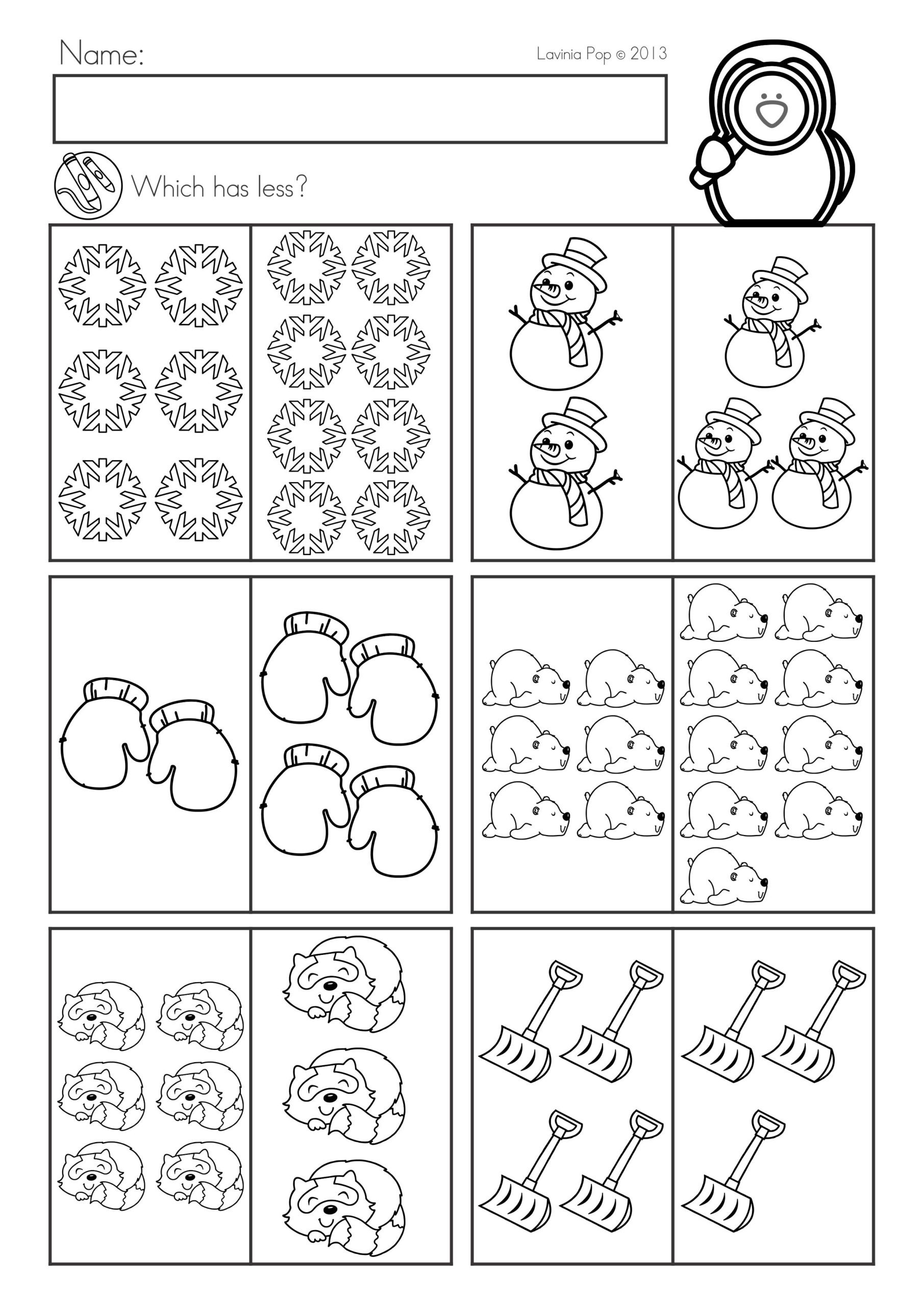 Ordering Decimals Worksheet 5th Grade Winter Math Worksheets Activities No Prep Kindergarten