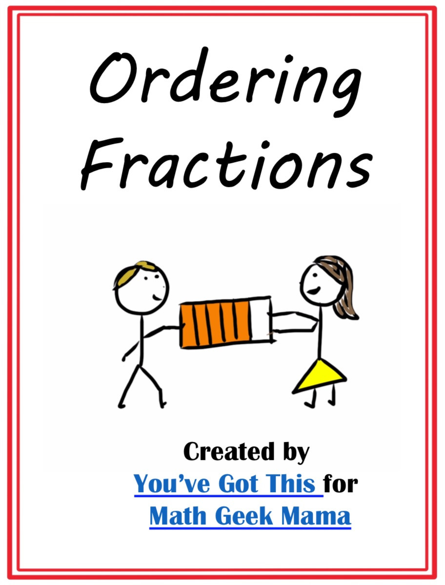 Ordering Fractions Worksheet 4th Grade Free Paring Fractions Worksheets Cut & Paste Visual Models