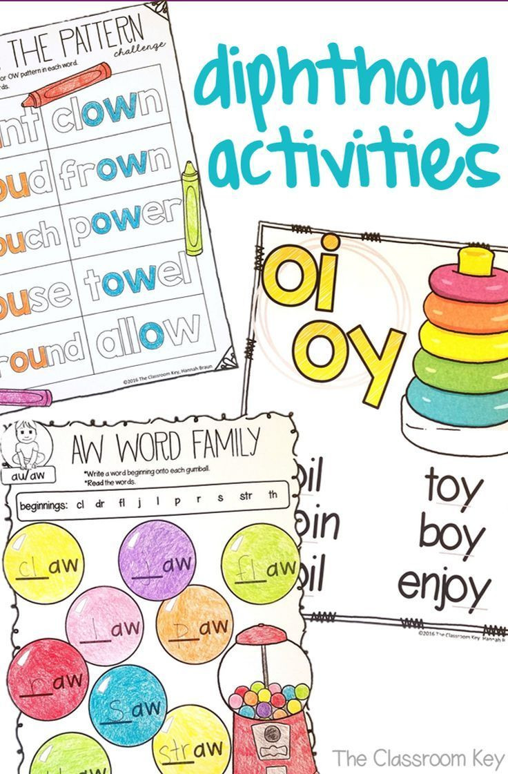 Ou Ow Worksheets 3rd Grade Diphthongs Worksheets and Activities