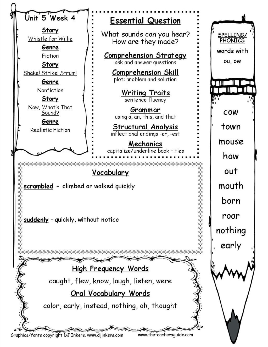 Ou Ow Worksheets 3rd Grade Worksheet Mcgraw Hillnders First Grade Resources and