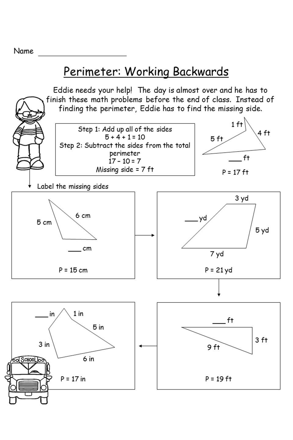 Perimeter Worksheets for 3rd Grade Perimeter Unit Activities Game Project and assessment In