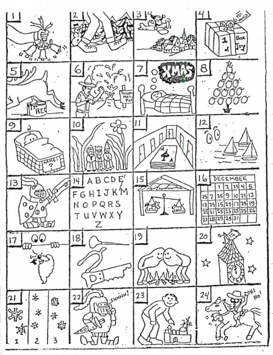 Pictogram Puzzles Printable Christmas Rebus Puzzles with Answers