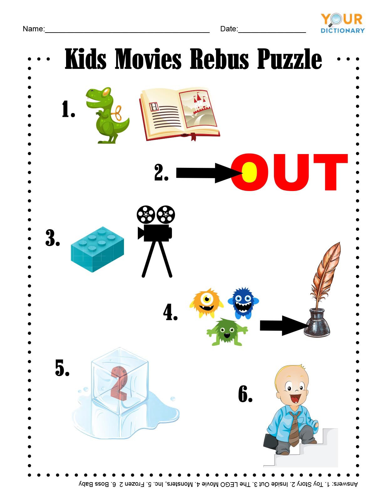 Pictogram Puzzles Printable Fun & Free Printable Word Games for Kids