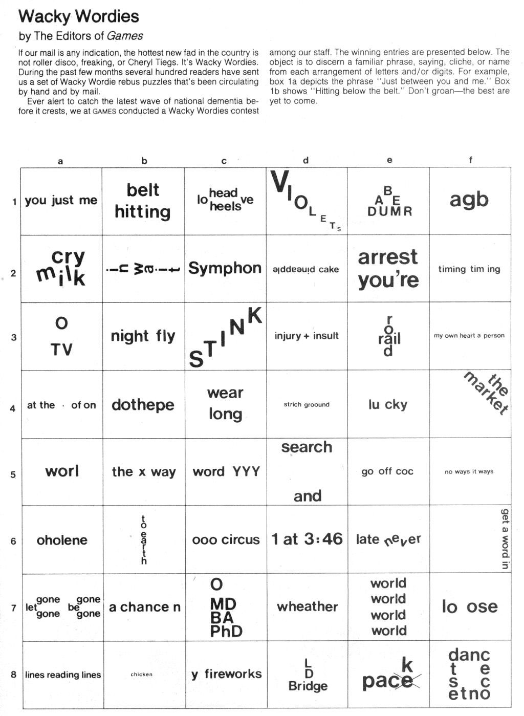 Pictogram Puzzles Printable Word Brain Teasers Worksheets