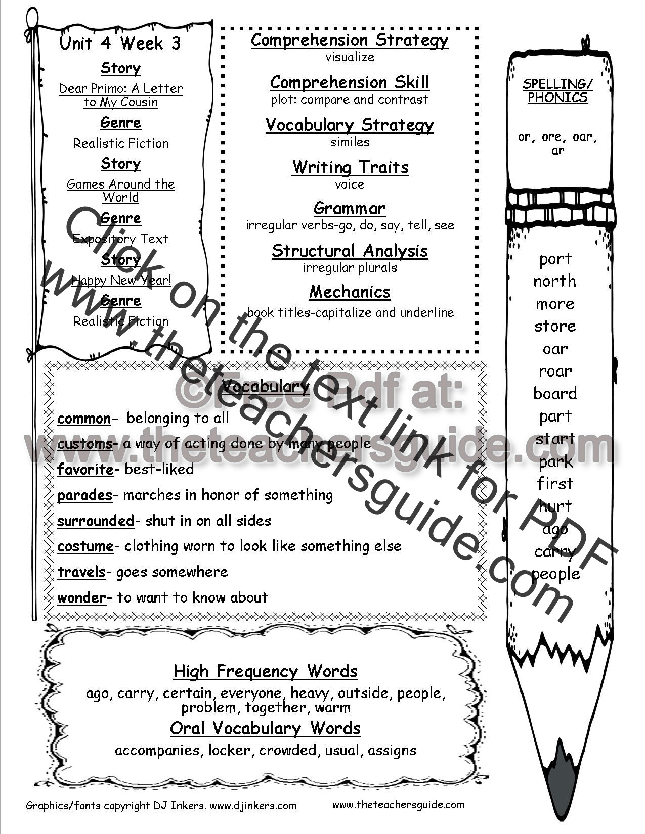 Plot Worksheets 2nd Grade Wonders Second Grade Unit Four Week Three Printouts