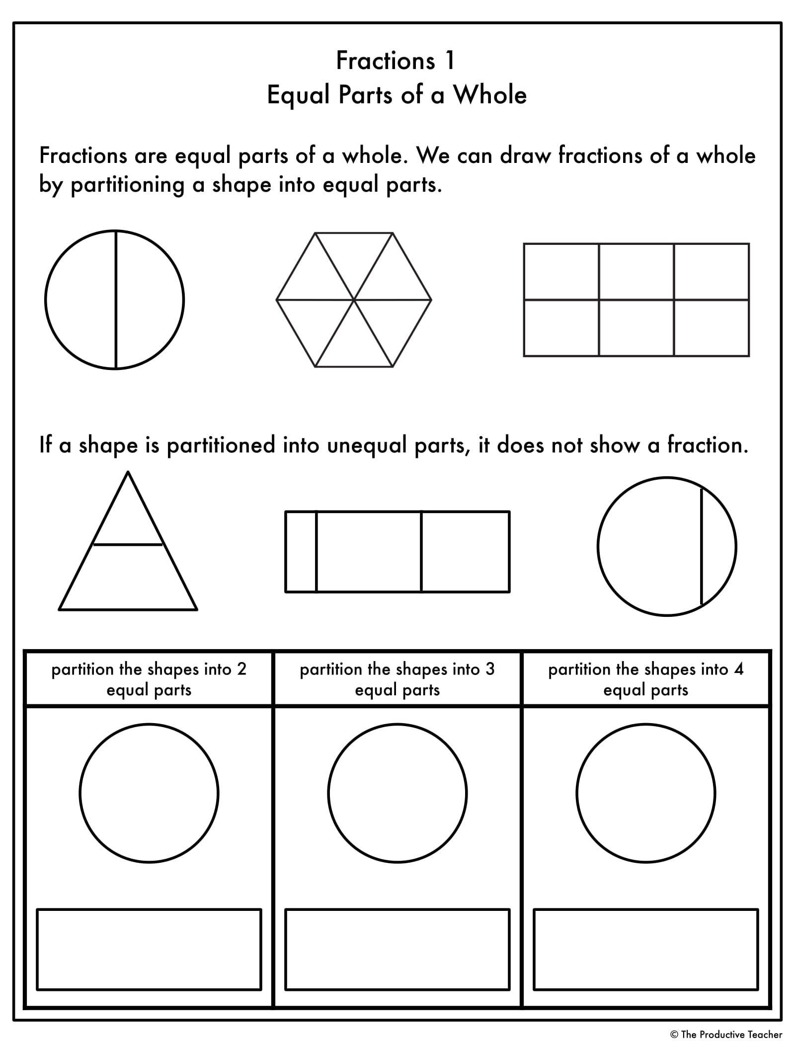 Polygon Worksheets 3rd Grade Fractions Progression Worksheets In 2020