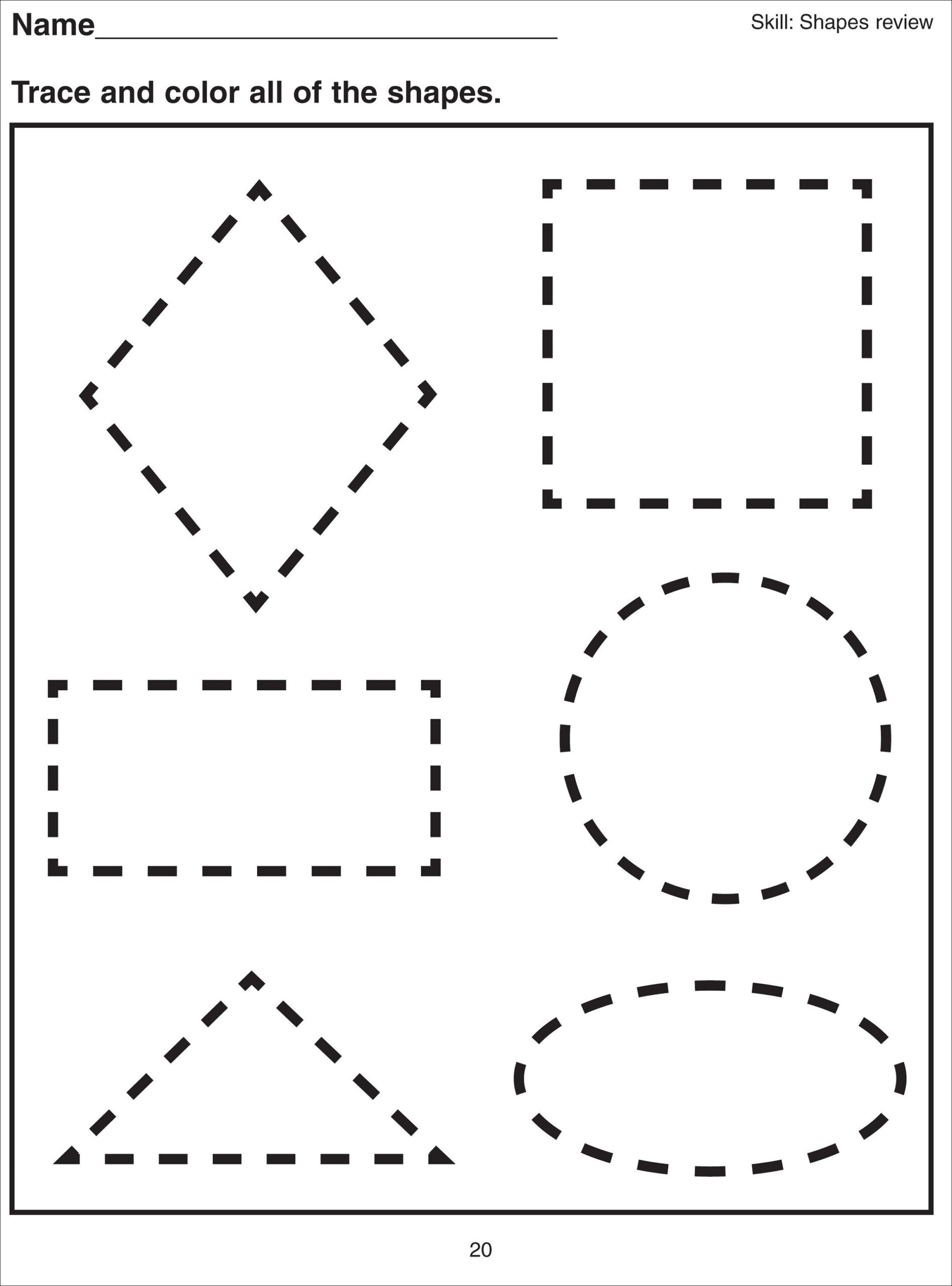 Polygon Worksheets 3rd Grade Shape Tracing Worksheets for Print Free Multiplication Table