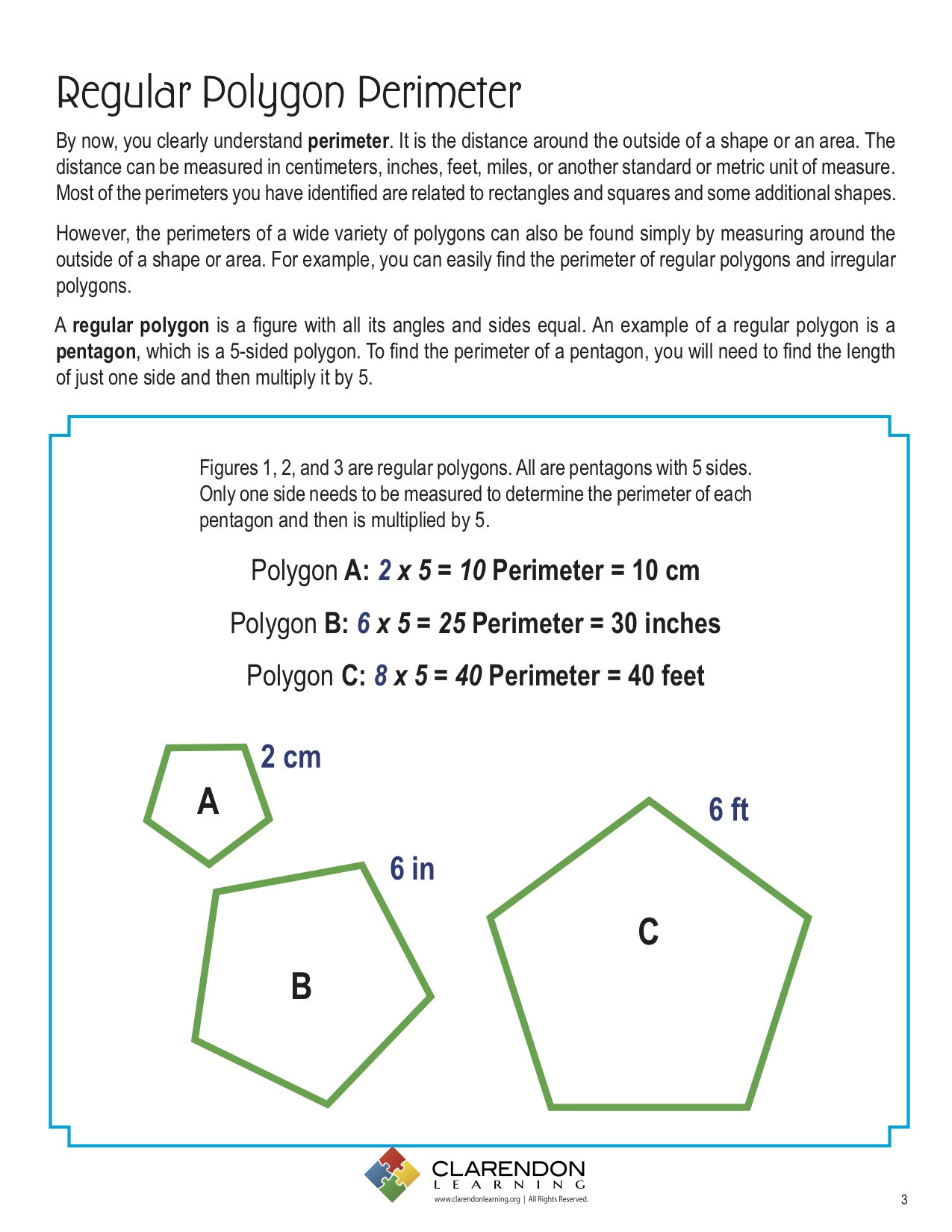 Polygon Worksheets 5th Grade Perimeters Of Polygons Lesson Plan