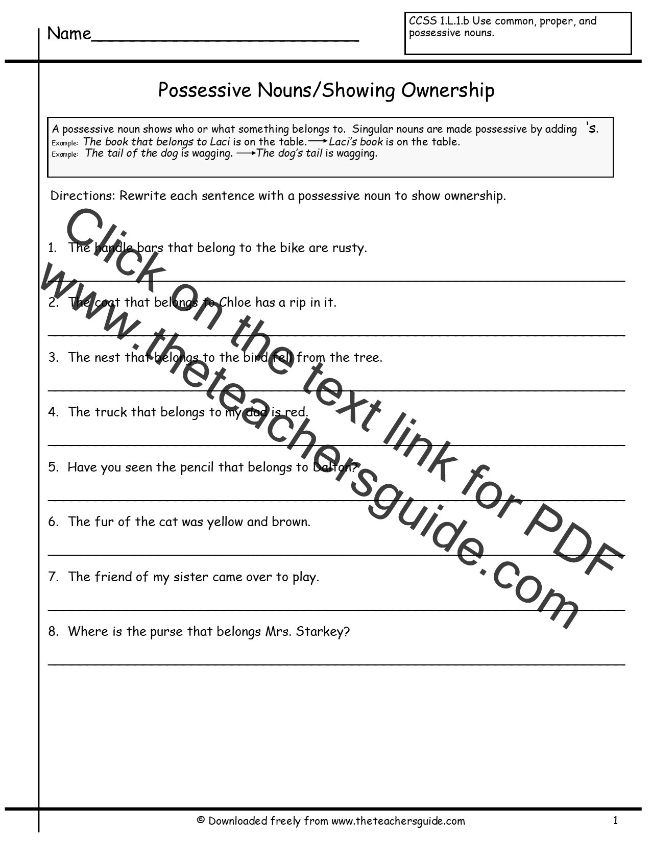 Possessive Pronouns Worksheet 3rd Grade Copy Grammar Possessive Irregular Nouns Lessons Tes