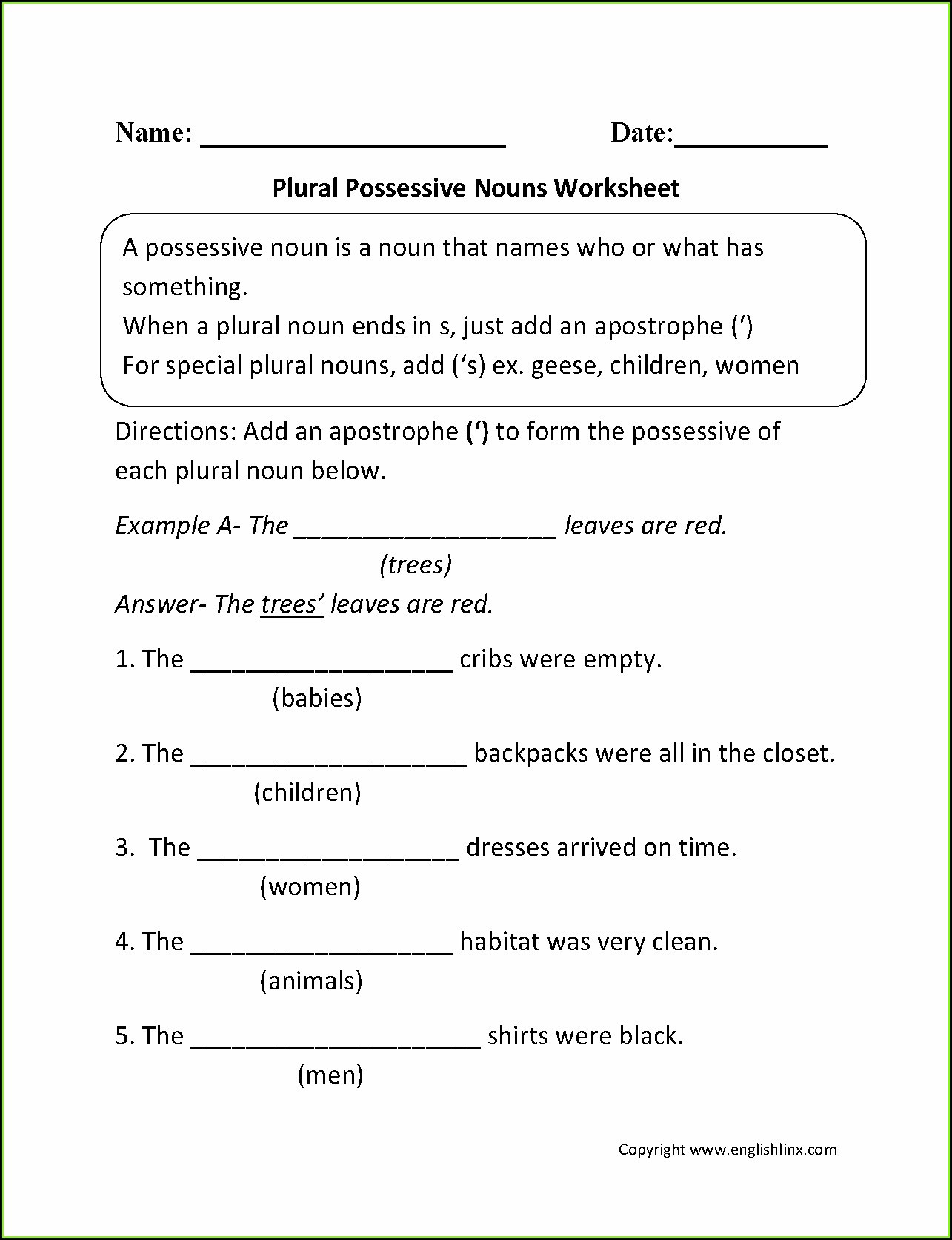 Possessive Pronouns Worksheet 3rd Grade Possessive Pronouns Worksheet 5th Grade
