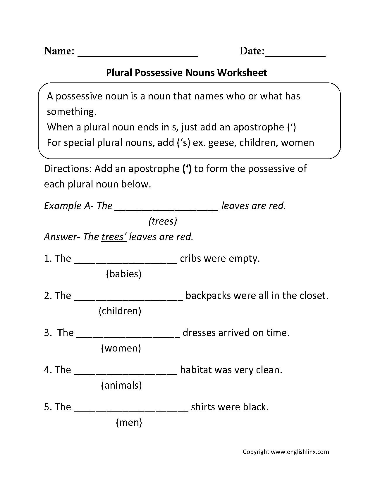 Possessive Pronouns Worksheet 3rd Grade Possessive Pronouns Worksheet for Kindergarten