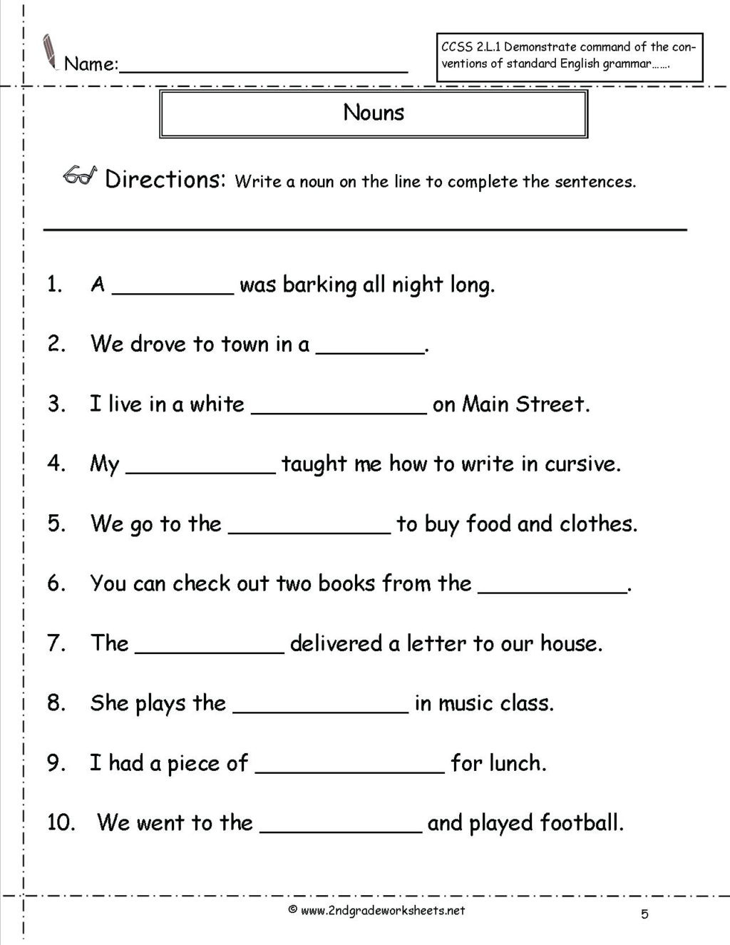 Possessive Pronouns Worksheet 3rd Grade Worksheet Free Printable Second Grade Reading