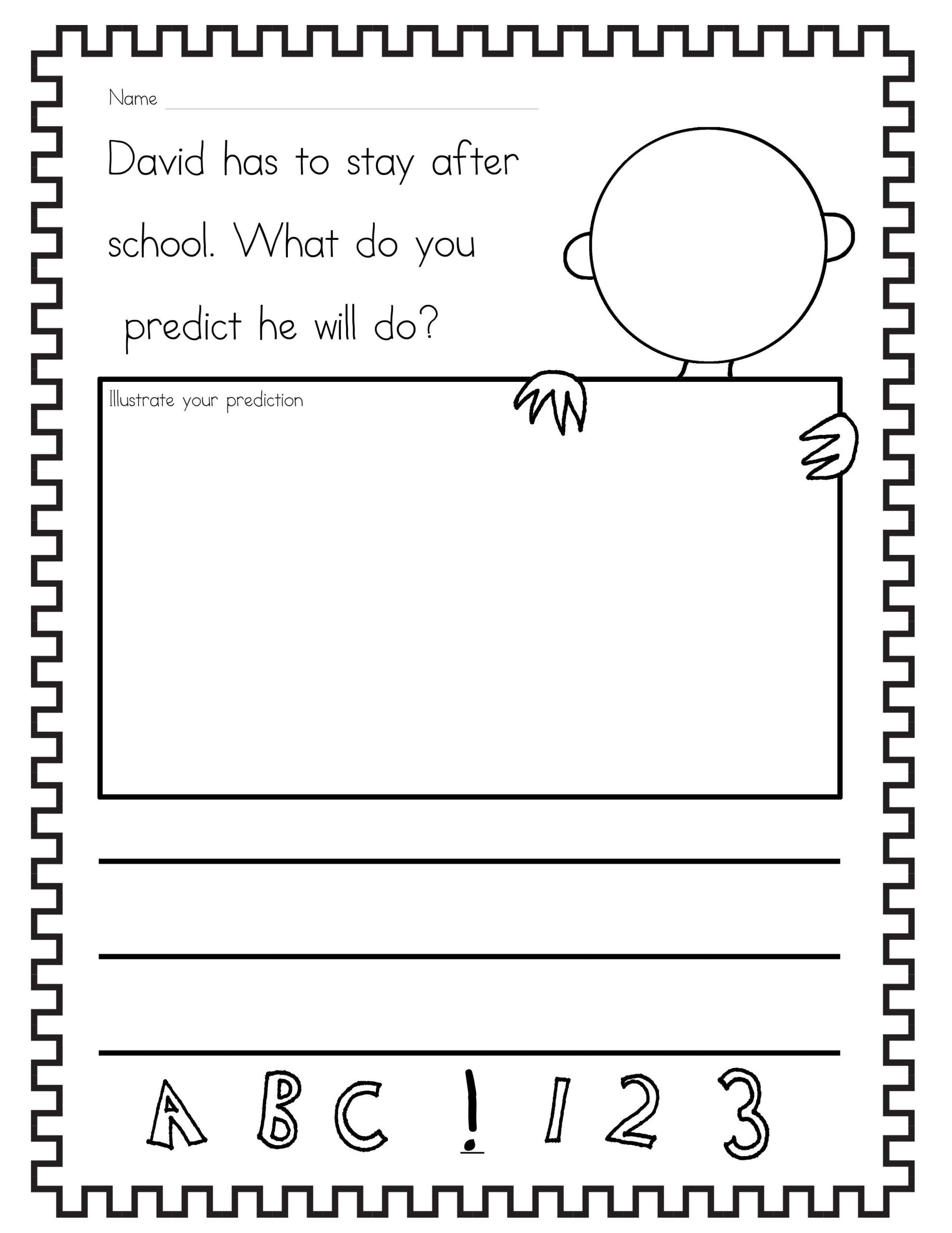 Predictions Worksheets 1st Grade the Teaching Gal