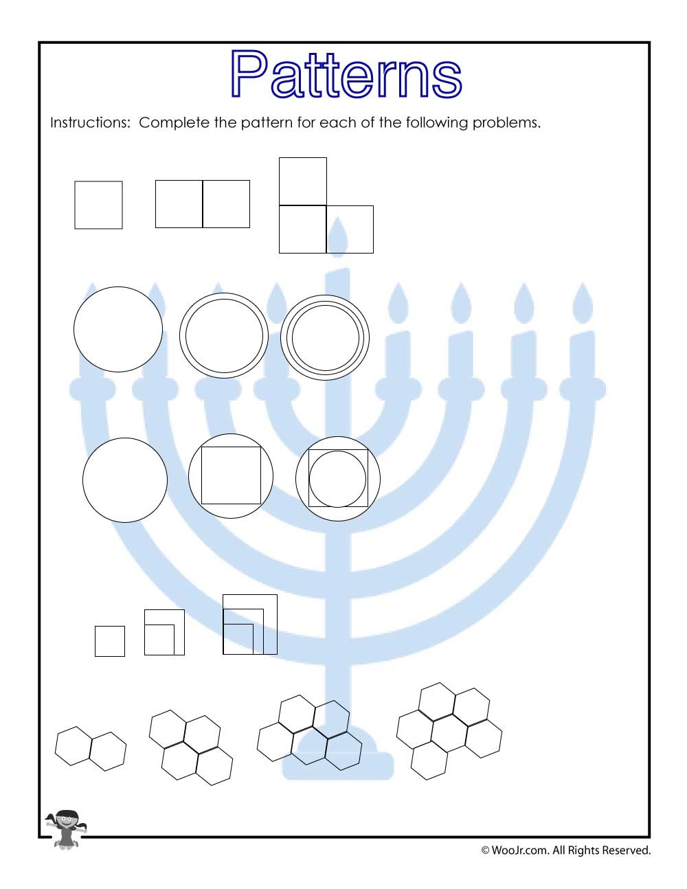 Predictions Worksheets 3rd Grade Visual Pattern Prediction Worksheet for 3rd Grade