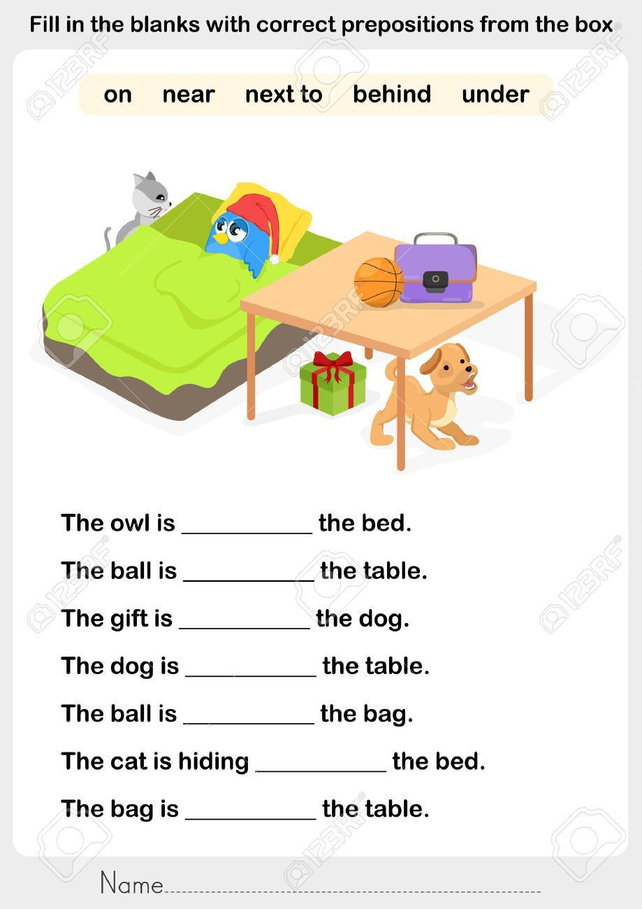 Prepositions With Worksheets