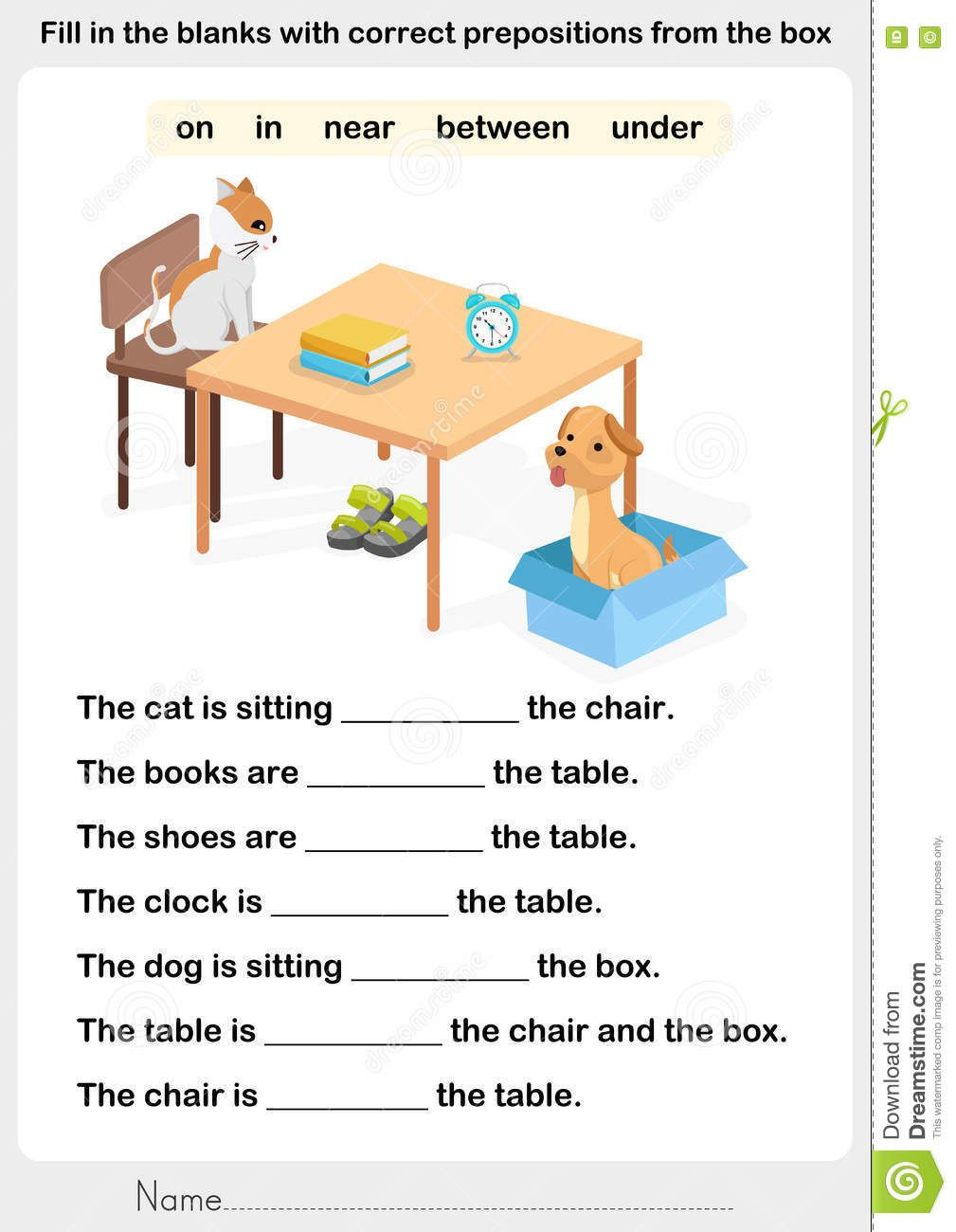 Preposition Worksheets Middle School Illustration About Fill In the Blanks with Correct