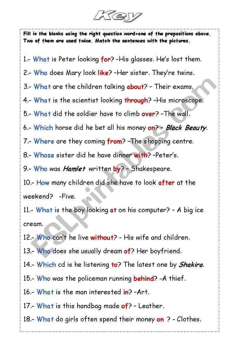 Prepositional Phrase Worksheet 4th Grade 3 Fourth Grade Preposition Worksheet In 2020