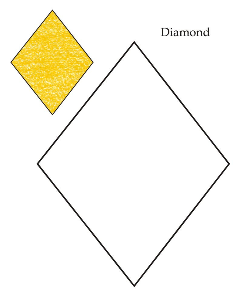 Preschool Diamond Shape Worksheets Extraordinary Diamond Coloring Sheet – Stephenbenedictdyson