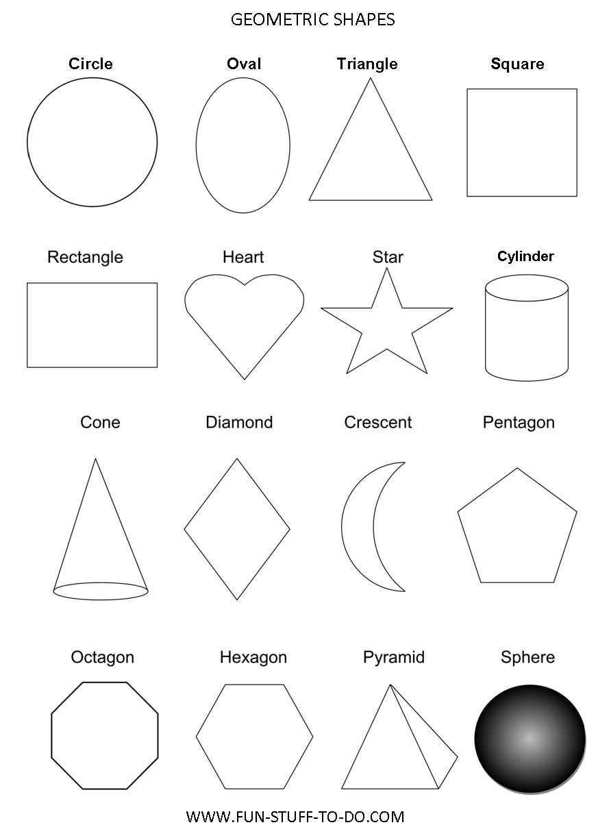 Preschool Diamond Shape Worksheets Geometric Shapes Worksheets Free to Print Ws Grade Math Exam