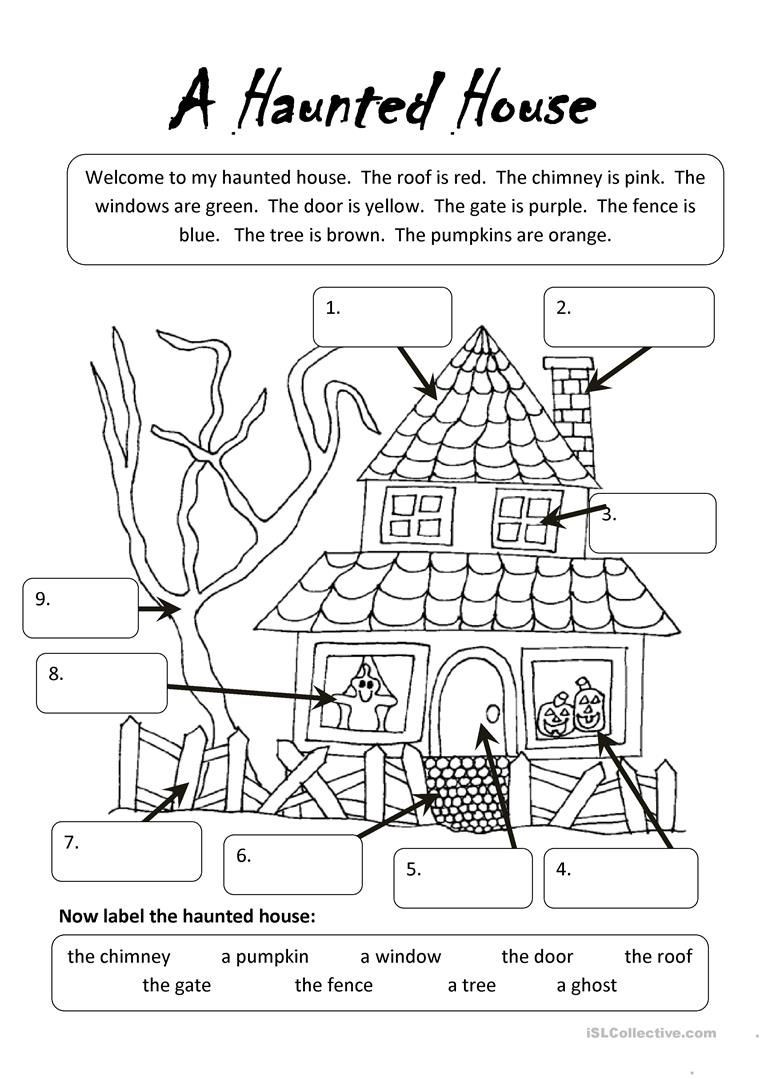 Preschool Halloween Worksheets Free A Haunted House Undervisning