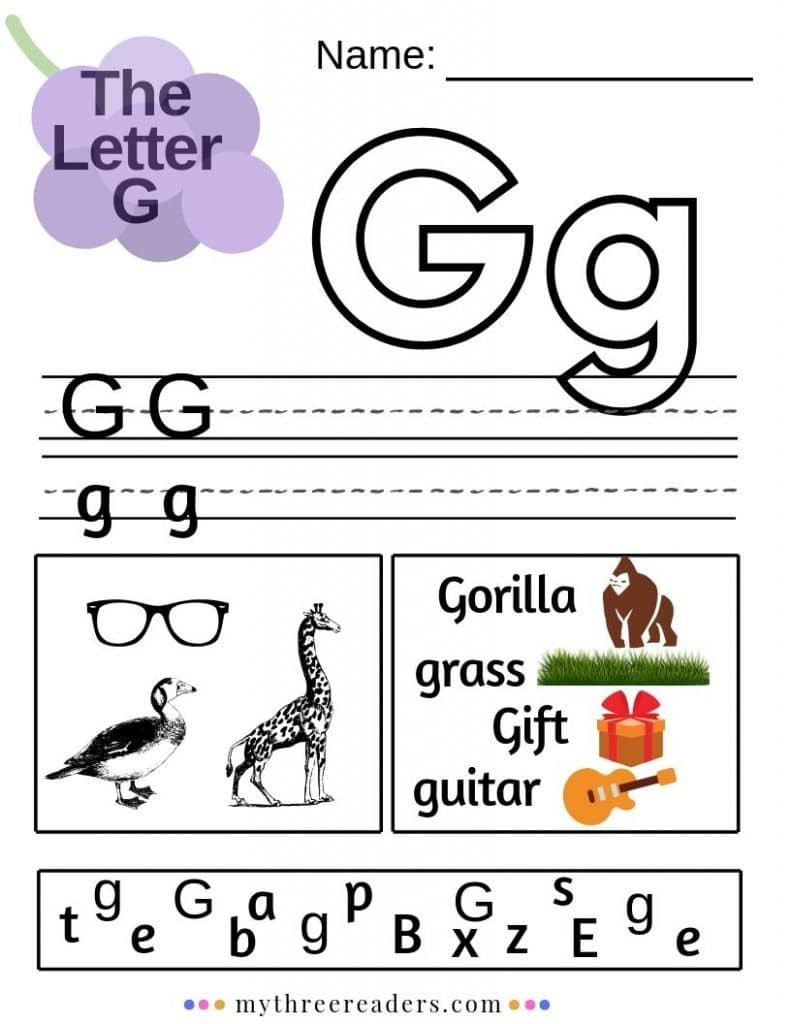 Preschool Letter G Worksheets Free Letter G Worksheets