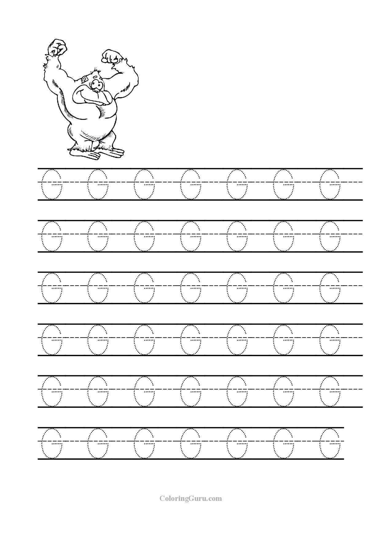 Preschool Letter G Worksheets Free Printable Tracing Letter G Worksheets for Preschool