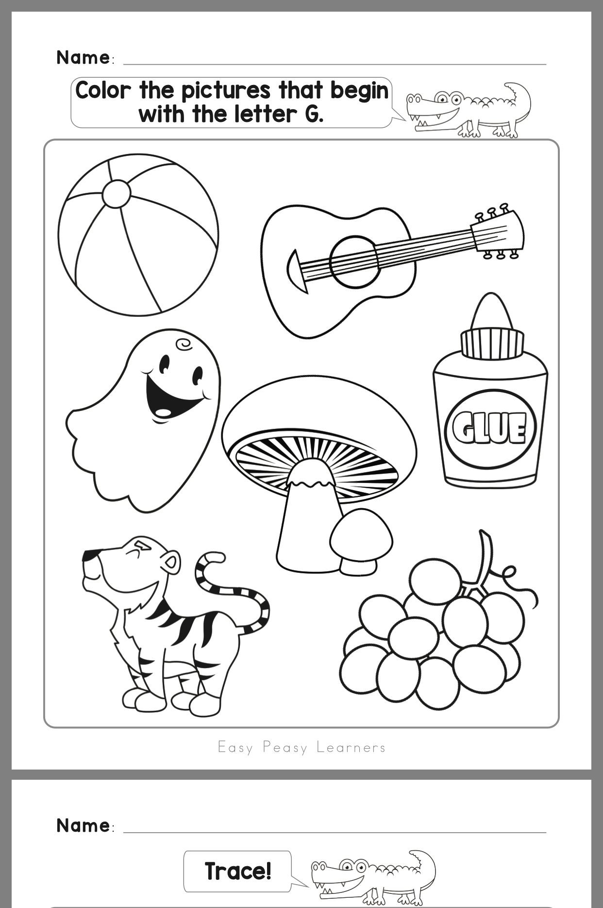 Preschool Letter G Worksheets Pin by Nicolegpopovich On Quinn Homeschool